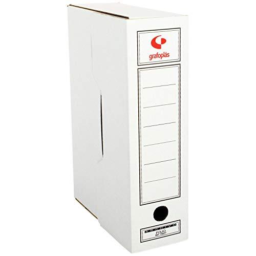 Grafoplás 70905700 - Confezione da 50 scatole per archivio definitivo in cartone, formato protocollo, 2 frontali per documenti verticali e orizzontali, certificati FSC, 36 x 25,3 x 10 cm