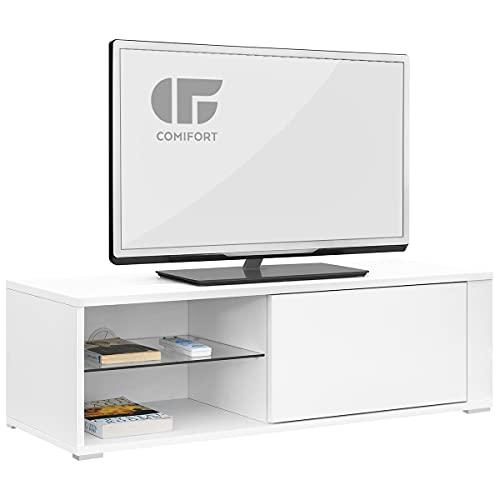 meuble tv blanc laque pas cher ikea