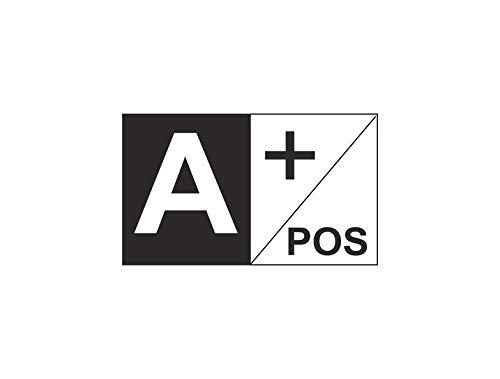 Akachafactory Aufkleber Sticker Auto Motorrad Fahne Flagge flaggen Blutgruppe A+ A positiv