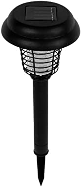 Solar Powered Light, Mosquito and Insect Bug Zapper-LED/UV Radiation Outdoor Stake Landscape Fixture for Gardens, Pathways, and Patios by Pure Garden