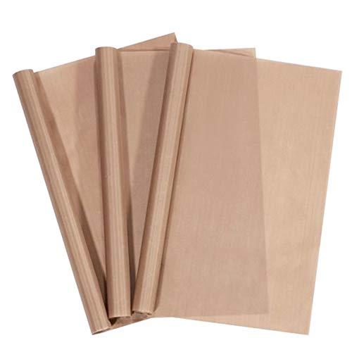 PTFE-Teflon-Folie, 30,5 x 40,6 cm, für Wärmepresse, antihaftbeschichtetes Papier, wiederverwendbar, hitzebeständig, schützt Bügeln, für Heißpressmaschinen, 3 Stück