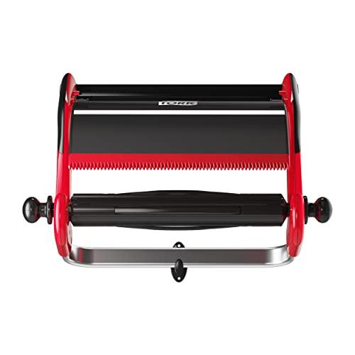 Tork 652108 Wandhalter in Rot Schwarz / Papierrollenhalter für Tork W1 Papierwischtücher im Performance Design