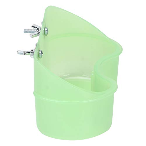 Green Parrots Mountable Feeder Feeding Bowl Food Water Dish Cup Bird Toy For Small Pets Chinchilla