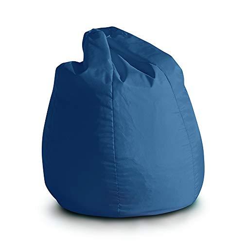 Avalon Pouf Poltrona Sacco per Bambini Bag Jive 65x65x90cm Made in Italy in Tessuto antistrappo Imbottito Colore Blu Royal