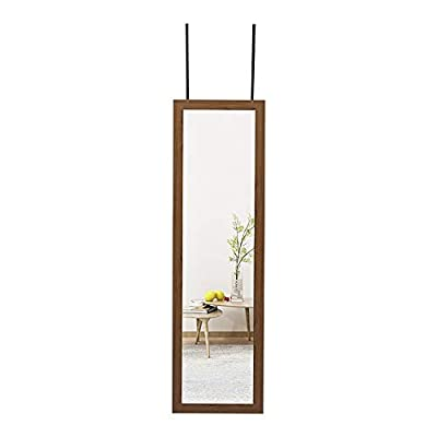 ZHUIDU HOME Full Length Wall Mirror 14x48 Inch Over Door Mirrors Fashion Aluminum Alloy Thin Frame for Home Decor Hanging Framed Bathroom Rectangle Dressing Original