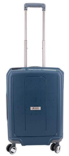 Low-Cost Cabin Suitcase with 4 Wheels 100% Polypropylene Airtex Secure Closure with 3 Points Blue Marine 55 x 40 x 20 cm