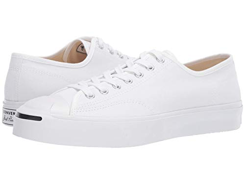Converse Unisex Jack Purcell Standard Canvas Sneakers, White, Size 5.5 M