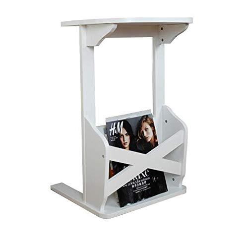 XIA Table de coin latérale Table de chevet créative rurale 2 Styles 2 tailles (Couleur : Blanc)