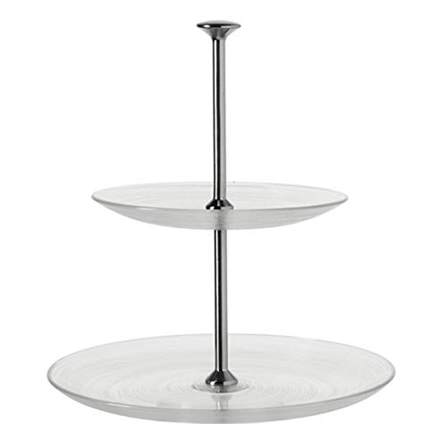 LEONARDO - Etagere - Limito - 2 Etagen - Glas und Metall - Maße (ØxH): 28 x 18,5 cm