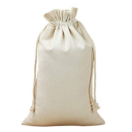 Nihlsfen Bolsa de encuadernación de Lona Bolsa de Tela pequeña Bolsa de Lino con cordón Ambiental Bolsa de Almacenamiento de Regalo de algodón Pintado a Mano DIY