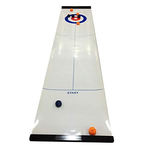 Great Price! BESPORTBLE 1 Set Tabletop Curling Game Curling Family Games Portable Mini Tabletop Game...