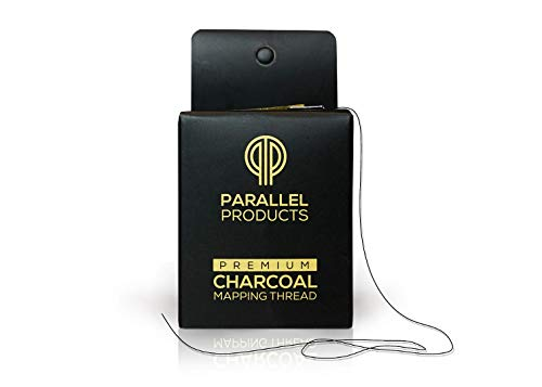 [NEW 15M BOXES] Parallel Products - Premium Eyebrow Mapping String for Microblading - Pre-Inked - 1 mm Fine Bamboo Charcoal Thread