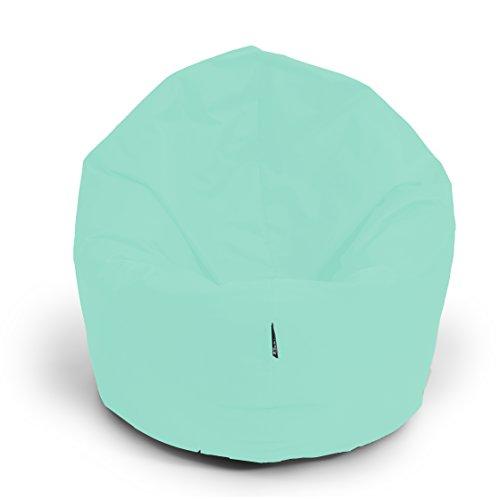 BuBiBag Sitzsack 2-in-1 100cm Durchmesser Funktionen mit Füllung Sitzkissen Bodenkissen Kissen Sessel BeanBag Joga 30 Farben (Pacific)