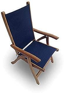 Royal Teak Collection FLNY Florida Teak Sling Chair, Navy