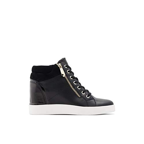 ALDO Women's Ailanna Wedge Sneaker, Black, 7.5