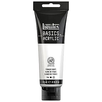 Liquitex Basics Acrylic Paint 4-oz tube Titanium White 4 Fl