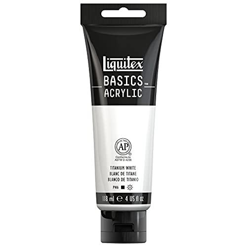 Liquitex BASICS Acrylic Paint, 4-oz tube, Titanium White