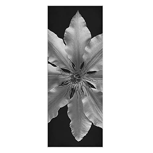 Colchoneta de yoga antideslizante Clematis Flower Blanco y negro Planta de pétalo Colchoneta de yoga Toalla Super suave antideslizante Hot Yoga Mat Toalla antideslizante Adecuado para la pl