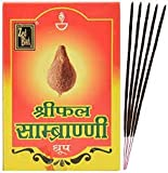 jaisakshi Zed Black Shriphal Sambrani Dhoop Incense Cones with Stand Natural Herbs – Consists 12...