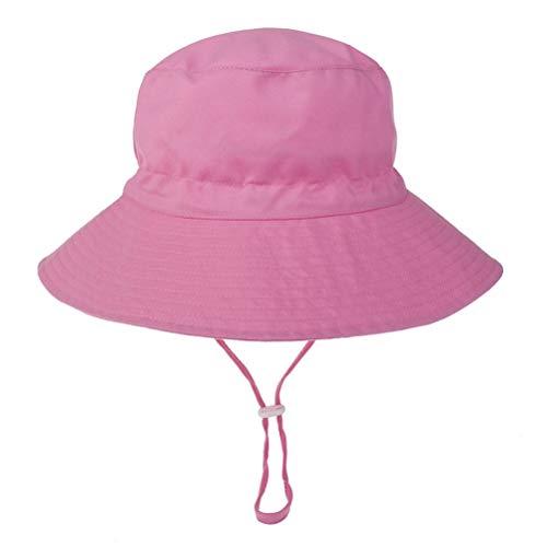Stecto Sombrero de Sol para Bebé con Protección Solar, Sombrero Suave Transpirable UPF 50+ Sun Protection Bucket Hats Baby Summer Hat con Correa Ajustable para la Barbilla