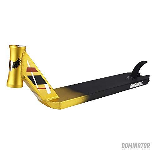 Dominator Team Edition Pro Stunt-Scooter-Brett/Deck, 115 x 520 mm, Gold/Schwarz