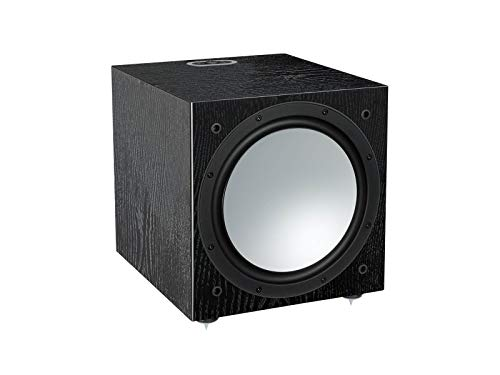 Monitor Audio Silver w-12 Black Oak Subwoofer verstärkt