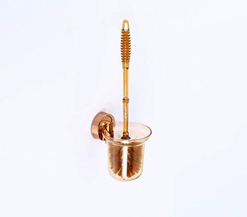 HangCM ABS Color Ambra Appeso A Parete Senza Set di Spazzole per WC PerforatoPortaScopino per WC