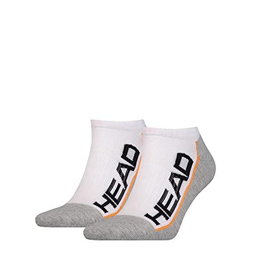 HEAD unisex-adult Performance Sneaker – Trainer (2 pack) Tennis Socks, white/grey, 43/46 (2er Pack)