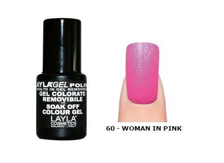 LAYLA - Vernis Ongles Semi Permanent Soak Off Gel Polish - 60 WOMAN IN PINK
