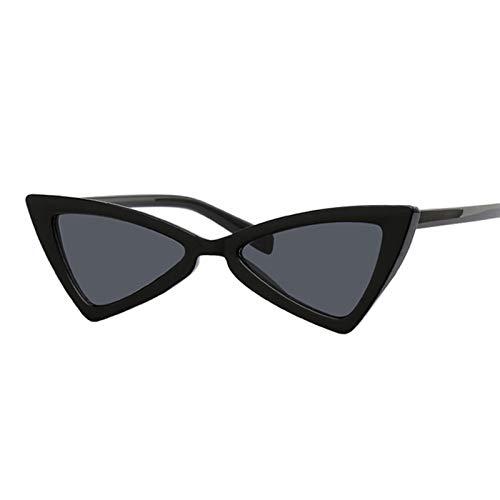DNAMAZ Gafas de Sol de Ojo de Gato pequeño Mujeres de Lujo de Moda Gafas de Sol Femenino Rojo Negro Vintage Sunglass UV400 (Lenses Color : Black Gray)