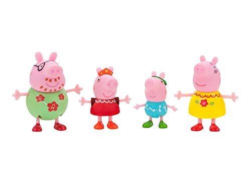 Peppa Pig PEP0547 Lot de 4 Figurines de fête familiale pour Enfants à partir de 2 Ans