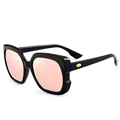 YANPAN Tendencia De La Moda Gafas De Sol Polarizadas TR para Mujer Gafas De Sol Cuadradas con Personalidad Gafas De Conducción Clásicas C6 Barbie Powder