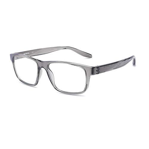 BOSAIL Blaulichtfilter Brille für Damen und Herren,ohne Sehstärke,Sehr leicht TR90, Blaufilter Brille für Gaming mit Brillenetuis