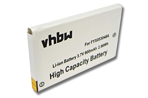 vhbw Batería 800mAh (3.7V) para Radio walkie Talkie Oregon TP391, TP393 por FYX053048A.