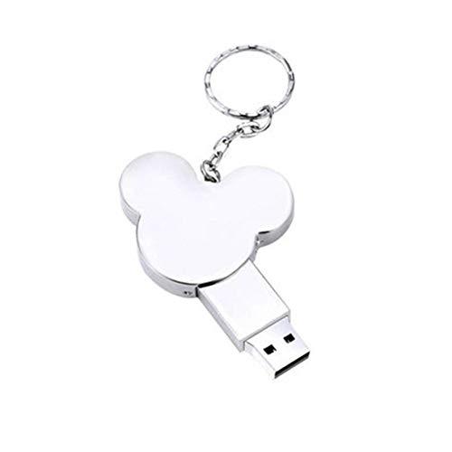 Gasfja - Portachiavi con chiavetta USB, disco a U 32G, in metallo, personalizzabile, argento (Argento) - Gasfja6953574461958