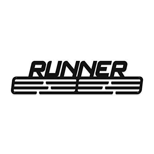 Medalmania - Porta medaglie in acciaio Runner Running - Medaglia per oltre 30 medaglie