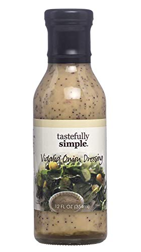 Tastefully Simple Vidalia Onion Dressing - Great for Salads, Greens, Coleslaw, Marinade for Poultry, Steak and Pork - 12 Fl oz