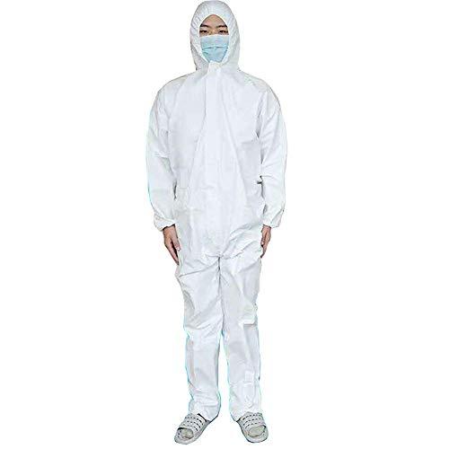 Bianco L Protezione antinfortunistica Tuta monouso Tuta antipolvere Abbigliamento isolante Tuta da lavoro Non tessuti Un pezzo