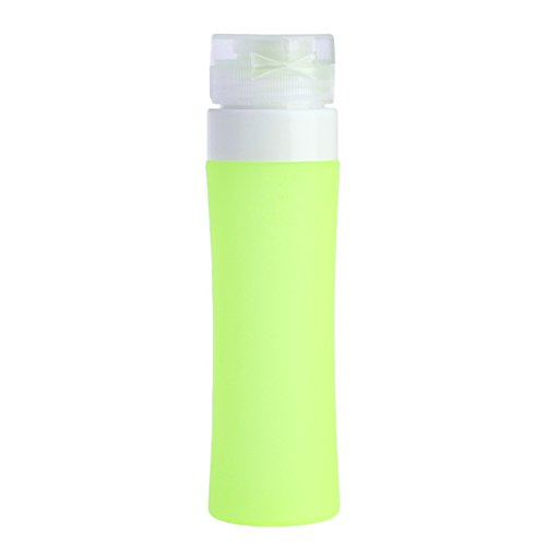 Dontdo bouteilles de voyage, portable conteneurs de Coque en silicone Squeezy rechargeables pour shampoing, Après-shampoing, lotion