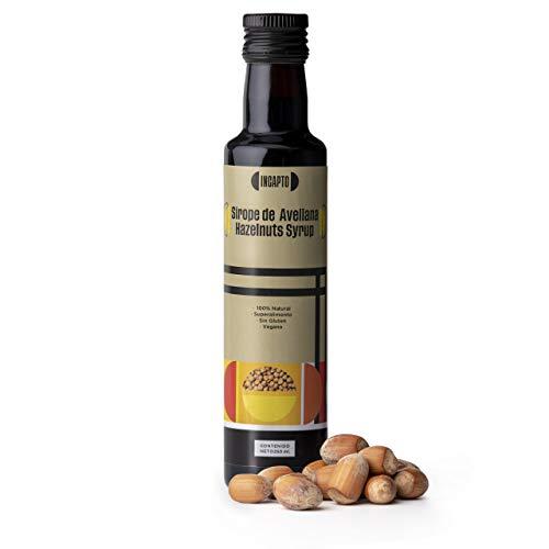 Incapto Coffee - Sirope de Avellanas 250 ml   100% Natural   Sin Conservantes ni Colorantes   Gluten Free   Apto para Veganos   Complemento para Café