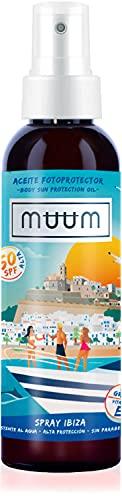 muum - Aceite Fotoprotector SPF50 alta protección -Filtro UVA/UVB -Vitaminas A, E...