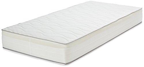 Amazon Basics Extra Komfort Frühlingsmatratze mit sieben Zonen weich, 100 x 200 cm - Mittel-Hart (H3/H3+)