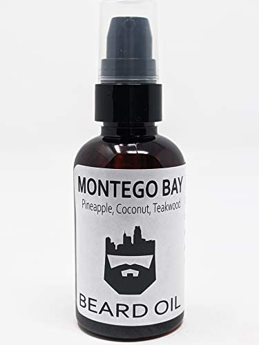 OakCityBeardCo Montego Bay 2 Ounce Beard Oil Beard Conditioner Pineapple Coconut Teakwood Women product image