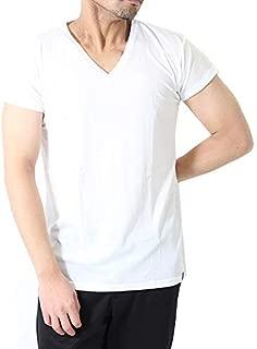 [グンゼ] 日本製 クールマジック メンズ鹿の子素材 汗とり付き VネックTシャツ 短袖 V首 紳士 MC2512