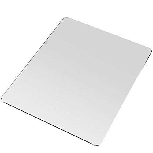 CZNGY Mouse Pad, Silver Hard Mouse Pad, Ultra Thin Double Sided Waterproof Fast Accurate Control Mousepad for Gaming, Laptop, Computer ( 9.45' X 7.87' )