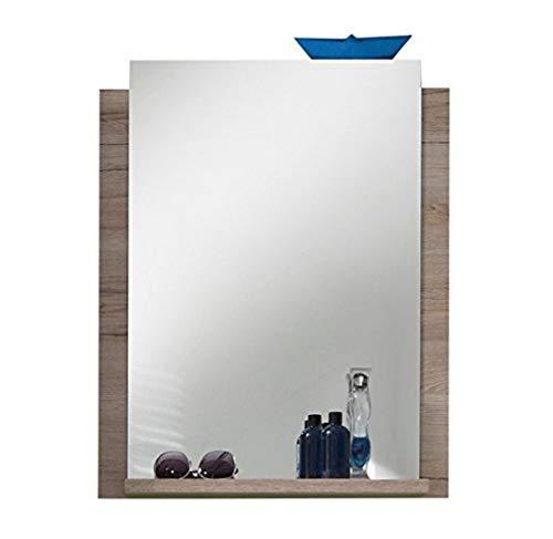 Trendteam 1316-401-90 Campus - Espejo de baño con balda (imitación de roble, 60 x 75 x 15 cm), color roble, roble(oak)