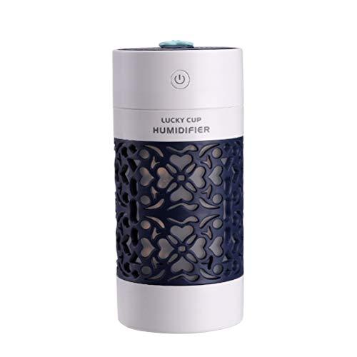 Vosarea Mini humidificador USB 3 en 1 para aromaterapia, difusor de Aroma, Aceite Esencial para el hogar, Oficina, Coche (Azul Real con Boca en U)