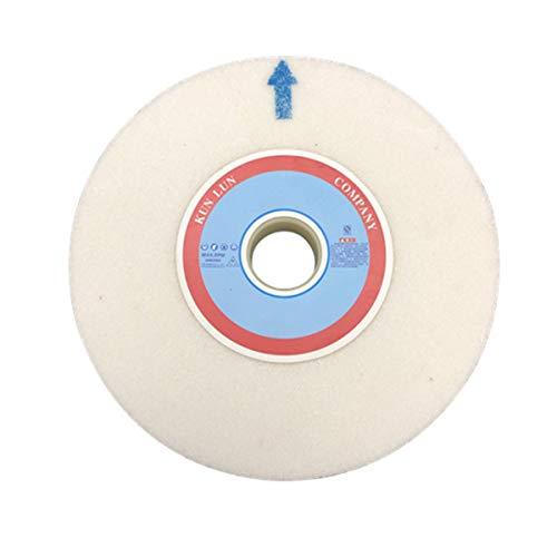 LOKIH Muela Abrasiva Material: Corindón Blanco, Diámetro Exterior: 150 mm, Diámetro del Agujero: 12,7 mm, Grueso: 20 mm,120 Grit