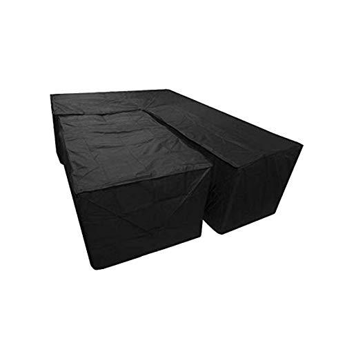 Ocobetom 2Pcs Wasserdichte L-Form Staubschutz Cube Ecke Möbel Sofa Rattan Abdeckung Für Garten Im Freien
