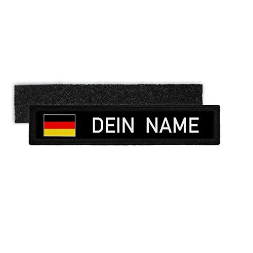 Copytec Deutschland Namenschild Patch mit Namen Bundeswehr Polizei Feuerwehr DEU #32321